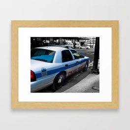 Protect and Serve. Framed Art Print