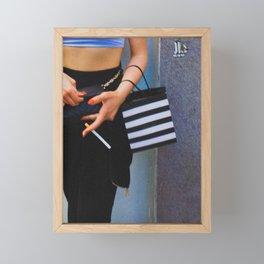 Smoking Girl, C Framed Mini Art Print