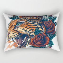 Ornate Leopard (Color Version) Rectangular Pillow