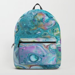 Fluid Nature - Candyfloss Tendrils - Abstract Acrylic Pour Art Backpack