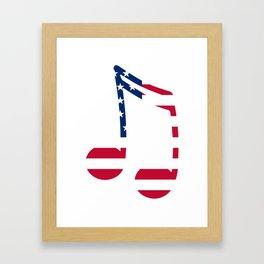 Music Note American Flag Framed Art Print