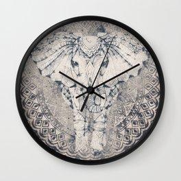 Indian Elephant Mandala Wall Clock