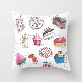 Food Love Throw Pillow