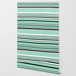 Complex Stripes - Green (Mint) Wallpaper