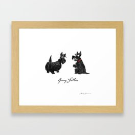 Groovy scotties Framed Art Print