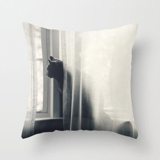 Le Kitty  Throw Pillow