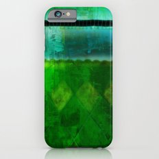 Blue and Green ~ Abstract Slim Case iPhone 6s
