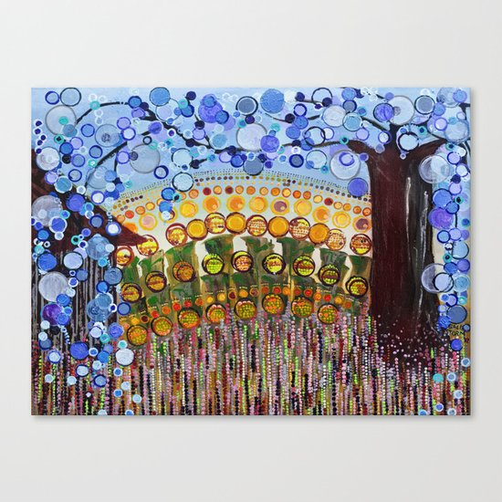 :: Indiana Blue Willow :: Canvas Print