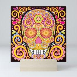 Day of the Dead Sugar Skull (Psychedelia) Mini Art Print