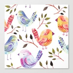 Boho Watercolor Chicks Canvas Print