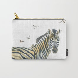 Zebra and Birds Carry-All Pouch