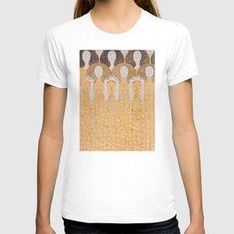 Gustav Klimt - Choir of Angels (Chor Der Paradiesengel) T-shirt