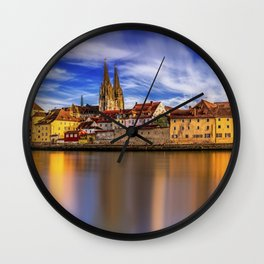 Panoramic Regensburg | Germany Wall Clock