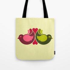 Olive Rosebirds Tote Bag