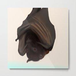 Digital Fruit Bat Metal Print