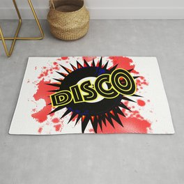 Disco 45 RPM Record Explosion Rug