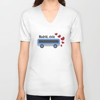 madrid V-neck T-shirts featuring madrid , cielo by skip ad