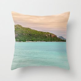 Colorful Day at the Beach Throw Pillow