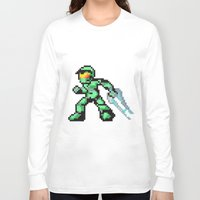 master chief Long Sleeve T-shirts featuring master chief by Walter Melon