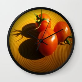Abstract Tomato Wall Clock