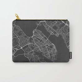 Halifax Map, Canada - Gray Carry-All Pouch