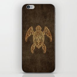 Intricate Vintage and Cracked Sea Turtle iPhone Skin