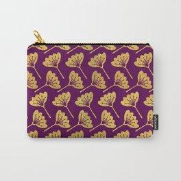 Modern Golden Florals Carry-All Pouch