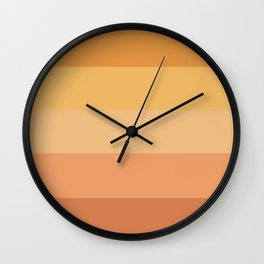 terracotta stripes Wall Clock