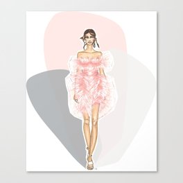 Pink Fashion Fairytale Canvas Print