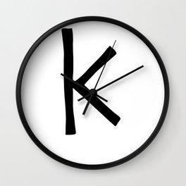 K Monogram (Hand 2) Wall Clock