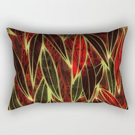 Magical Bamboo Forest in Night Glow Rectangular Pillow