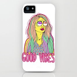 Good Vibes Woman iPhone Case