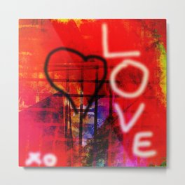 Love Graffiti Metal Print
