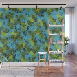 Forest Green and Sky Blue Wall Mural