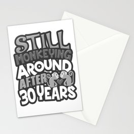 30th Wedding Anniversary Still Monkeying Around After 30 Years Stationery Cards