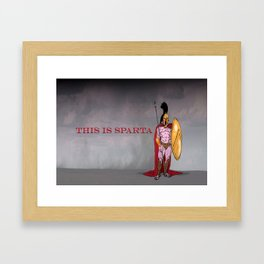 this is sparta Framed Art Print
