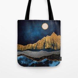 Midnight Desert Moon Tote Bag