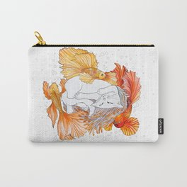 Cat and Golden Fishes Carry-All Pouch