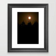 Bright Darkness Framed Art Print