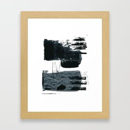 shape shift. navy 01 Framed Art Print