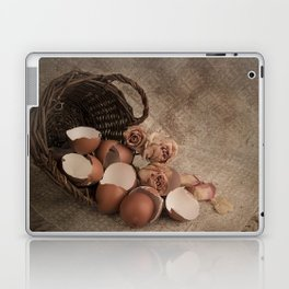 Basket with egg shells and roses Laptop & iPad Skin