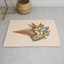 Ice Cream Floral (Salmon) Rug