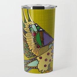 jewel eagle chartreuse Travel Mug