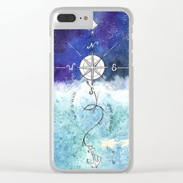 Anchor and the horizon Clear iPhone Case