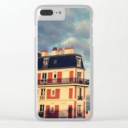 Shadow Of Sacre Coeur Clear iPhone Case