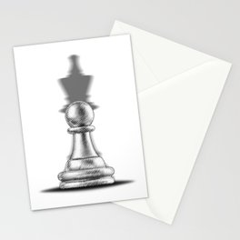 Pawn with a king shadow Stationery Cards