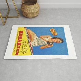 Kodak Verichrome Film Australian Womens Weekly 1946 Advertisement  Rug