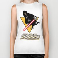 pittsburgh Biker Tanks featuring Pittsburgh Plagueis by Ant Atomic