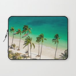 An Aerial view of a Scenic Beach in Thailand Laptop Sleeve