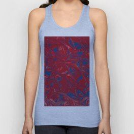 Red and Blue Marble Unisex Tank Top